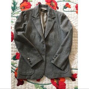 Vintage Gray wool blend blazer women's